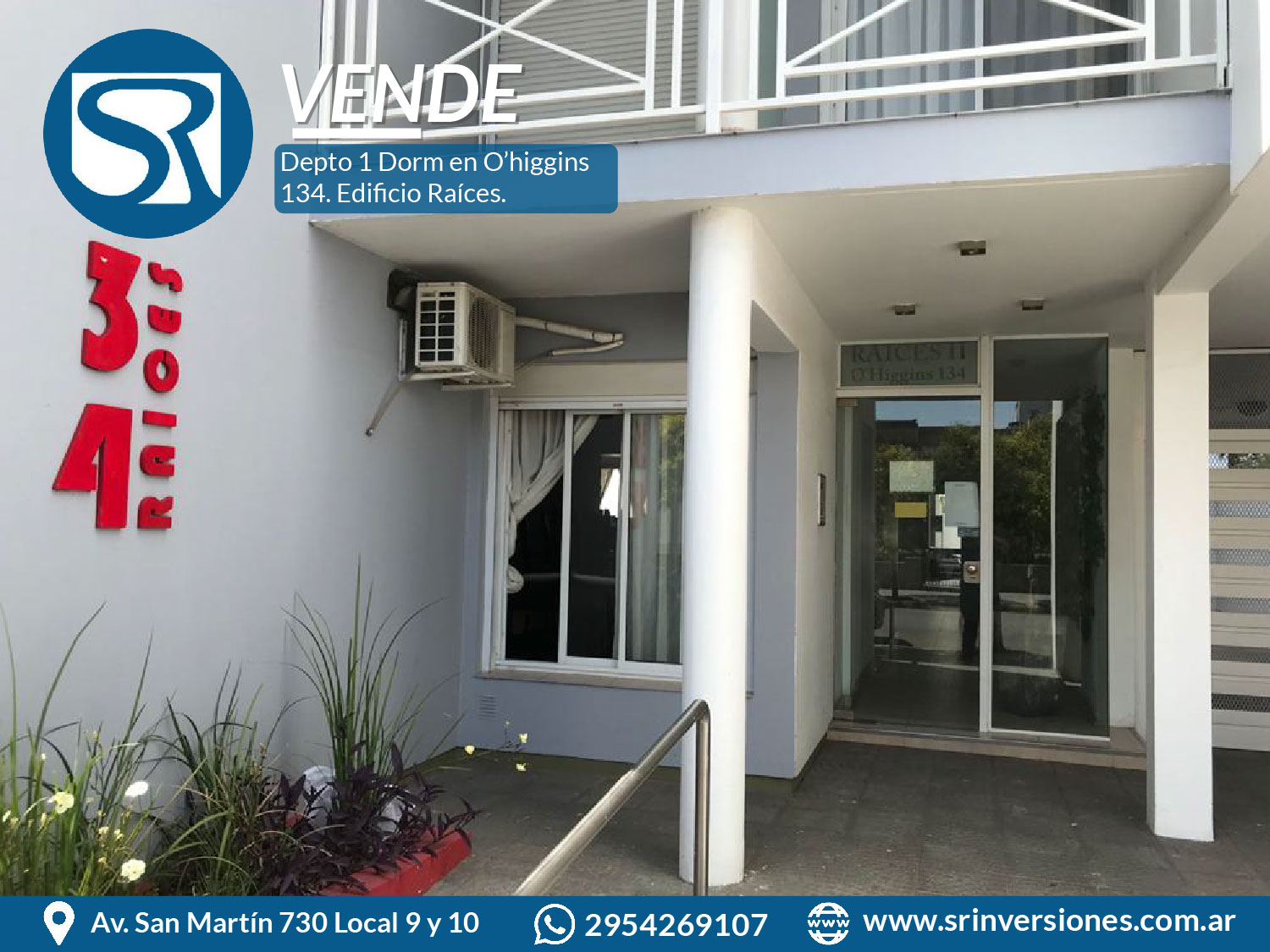 VENDE DEPTO 1 DORM en O'HIGGINS 134. Santa Rosa, LP.